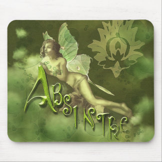 Green Fairy Splashy Collage II Mouse Pad