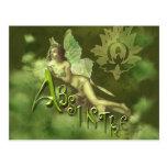 Green Fairy Splashy Collage II Postcards