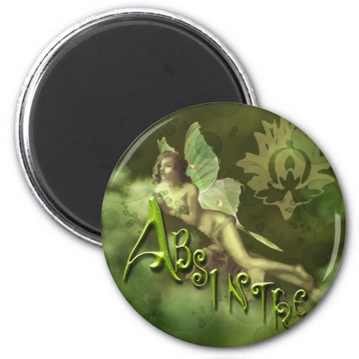Green Fairy Splashy Collage II Refrigerator Magnet