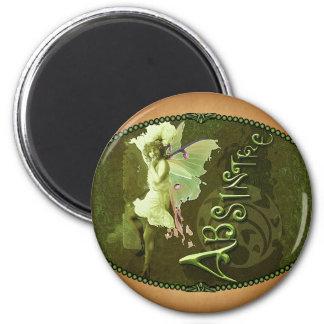 Green Fairy Splashy Collage III 2 Inch Round Magnet