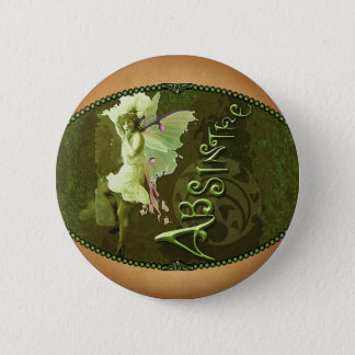Green Fairy Splashy Collage III Pinback Button