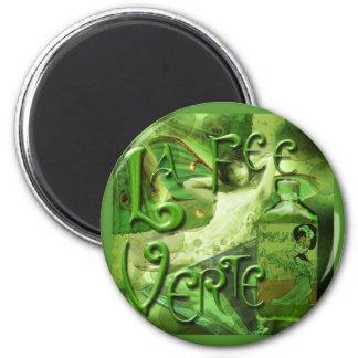 Green Fairy Splashy Collage IV Magnet