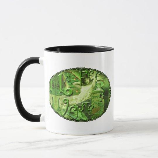 Green Fairy Splashy Collage IV Mug