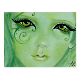 Green Fairy Swirls Postcard