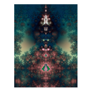 Green Fairy Tale Postcard