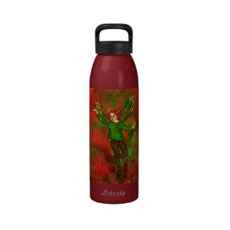 green fairy water bottle