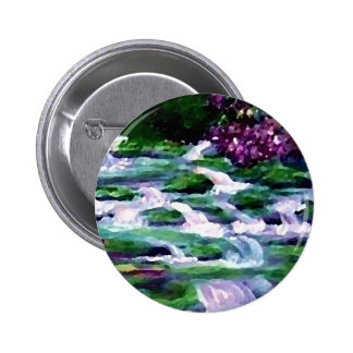 """Green Fairy Waterfalls""  CricketDiane Art Buttons"