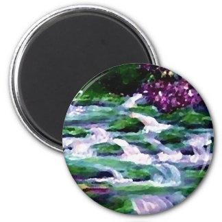 """Green Fairy Waterfalls""  CricketDiane Art Refrigerator Magnet"