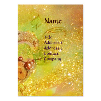 GREEN FAIRY WITH GOLD FLORAL SPARKLES IN MOONLIGHT LARGE BUSINESS CARDS (Pack OF 100)