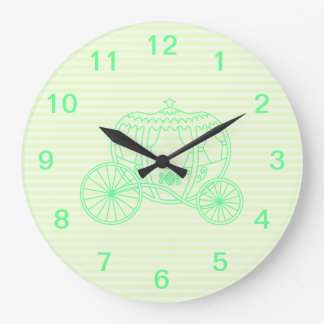 Green Fairytale Carriage Large Clock