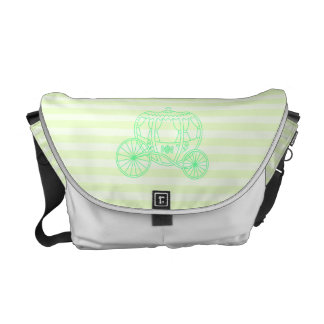 Green Fairytale Carriage Messenger Bags