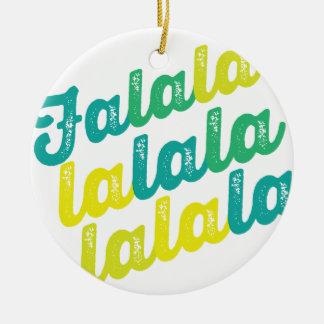 Green Falalalala Christmas Holiday Photo Ornament