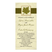 green fall Wedding program