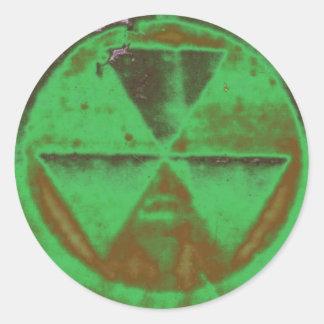 green Fallout Classic Round Sticker