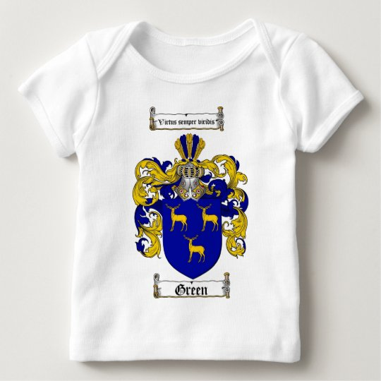 GREEN FAMILY CREST -  GREEN COAT OF ARMS BABY T-Shirt