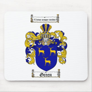 GREEN FAMILY CREST -  GREEN COAT OF ARMS MOUSE PAD