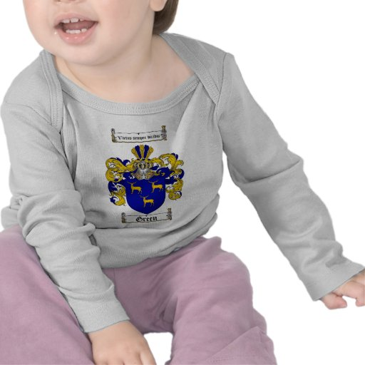 GREEN FAMILY CREST -  GREEN COAT OF ARMS SHIRT