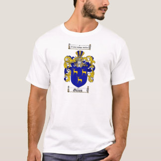 GREEN FAMILY CREST -  GREEN COAT OF ARMS T-Shirt