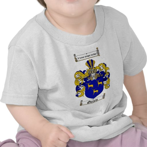 GREEN FAMILY CREST -  GREEN COAT OF ARMS TEE SHIRT