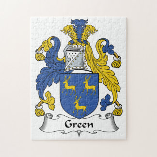 Green Family Crest Puzzle