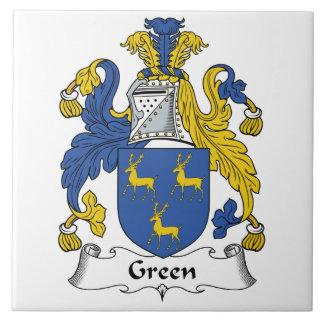 Green Family Crest Tile