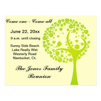 Green Family Reunion Tree Post Card