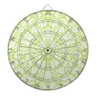 Green fancy damask pattern dart boards