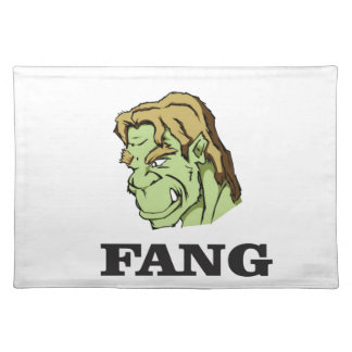 green fang monster yeah cloth placemat