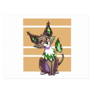 Green Fantasy Creature Postcard