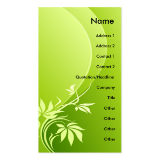 GREEN FANTASY PLANT Double-Sided STANDARD BUSINESS CARDS (Pack OF 100)