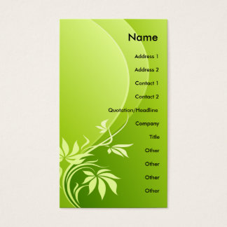 GREEN FANTASY PLANT BUSINESS CARD