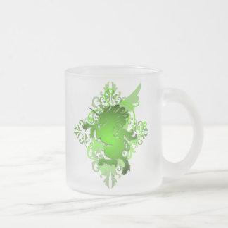 Green Fantasy Unicorn Frosted Monogram Mug