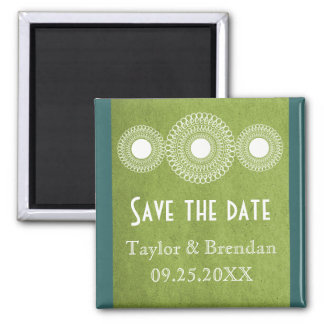 Green Far East Elegance Save the Date Magnet