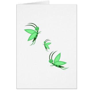 Green Faries Greeting Card