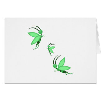 Green Faries Greeting Cards