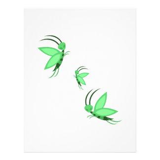 Green Faries Personalized Letterhead