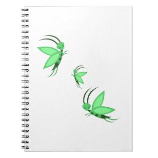 Green Faries Notebook