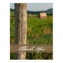 Green Farm Pastures Thank You Postcard