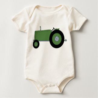 Green Farm Tractor Baby Bodysuit