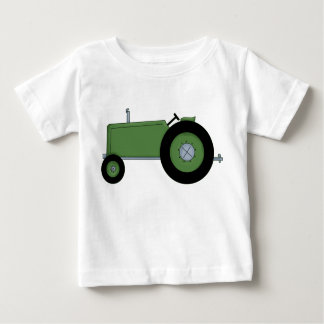 Green Farm Tractor Baby T-Shirt