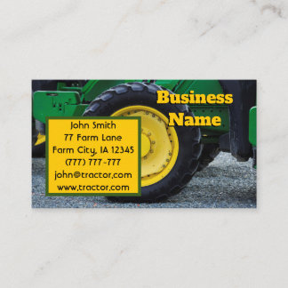 Green Farm Tractor Business Card