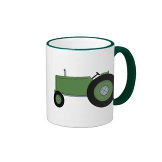 Green Farm Tractor Coffee Mugs