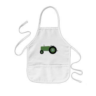 Green Farm Tractor Kids' Apron