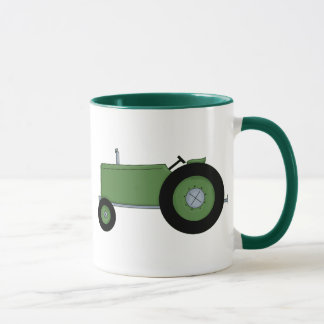 Green Farm Tractor Mug