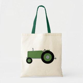 Green Farm Tractor Tote Bag