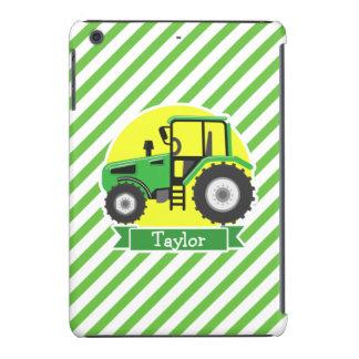 Green Farm Tractor with Yellow;  Green & White iPad Mini Cases
