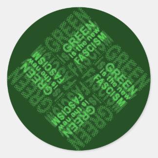 Green Fascism Classic Round Sticker