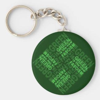 Green Fascism Basic Round Button Keychain
