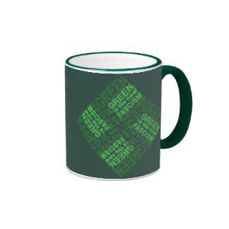 Green Fascism Ringer Coffee Mug