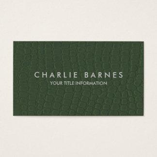 Green Faux Croc Business Card
